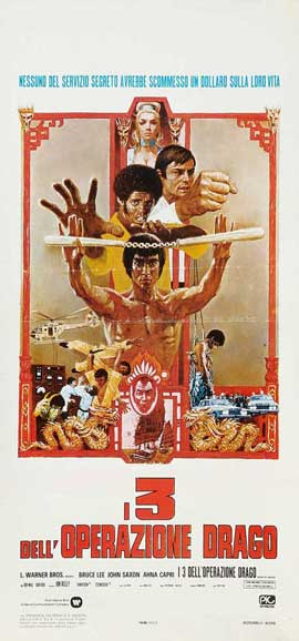 Enter the Dragon - 13 x 28 Movie Poster - Italian Style A