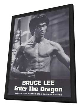 Enter the Dragon - 11 x 17 Movie Poster - Style E - in Deluxe Wood Frame