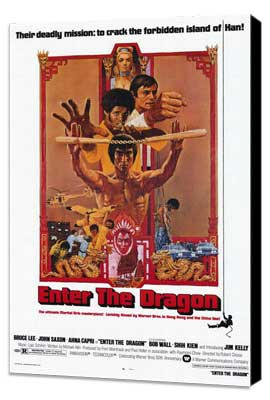 Enter the Dragon - 11 x 17 Movie Poster - Style A - Museum Wrapped Canvas