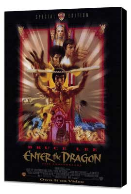 Enter the Dragon - 27 x 40 Movie Poster - Style B - Museum Wrapped Canvas