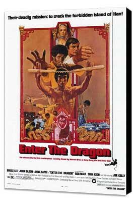 Enter the Dragon - 27 x 40 Movie Poster - Style A - Museum Wrapped Canvas