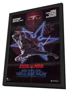 Enter the Ninja - 11 x 17 Movie Poster - Style A - in Deluxe Wood Frame