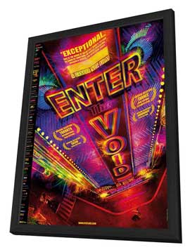 Enter the Void - 11 x 17 Movie Poster - Style B - in Deluxe Wood Frame