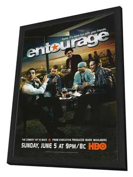 Entourage - 27 x 40 TV Poster - Style B - in Deluxe Wood Frame