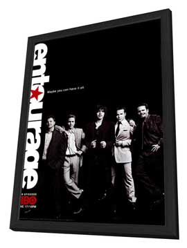 Entourage - 27 x 40 TV Poster - Style C - in Deluxe Wood Frame