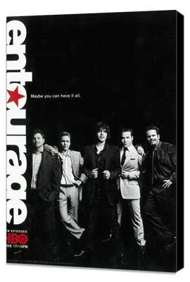Entourage - 11 x 17 TV Poster - Style K - Museum Wrapped Canvas
