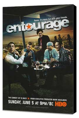 Entourage - 27 x 40 TV Poster - Style B - Museum Wrapped Canvas