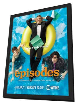 Episodes (TV) - 11 x 17 TV Poster - Style A - in Deluxe Wood Frame