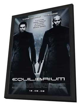 Equilibrium - 27 x 40 Movie Poster - Style A - in Deluxe Wood Frame