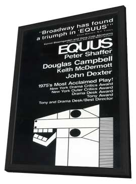 Equus (Broadway) - 11 x 17 Poster - Style A - in Deluxe Wood Frame