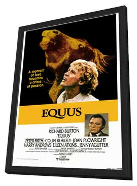 Equus - 11 x 17 Movie Poster - Style B - in Deluxe Wood Frame