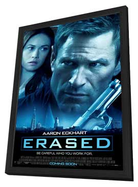 Erased - 11 x 17 Movie Poster - Style A - in Deluxe Wood Frame