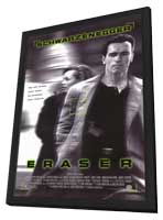 Eraser - 11 x 17 Movie Poster - Style B - in Deluxe Wood Frame