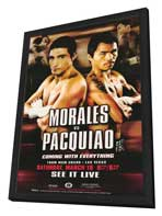 Erik Morales vs Manny Pacquiao - 11 x 17 Boxing Promo Poster - Style A - in Deluxe Wood Frame
