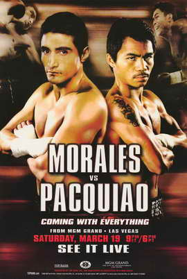 Erik Morales vs Manny Pacquiao - 11 x 17 Boxing Promo Poster - Style A