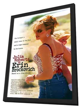 Erin Brockovich - 11 x 17 Movie Poster - Style A - in Deluxe Wood Frame
