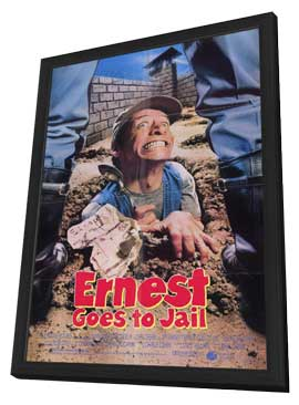Ernest Goes to Jail - 11 x 17 Movie Poster - Style A - in Deluxe Wood Frame