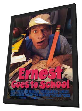 Ernest Goes to School - 11 x 17 Movie Poster - Style A - in Deluxe Wood Frame