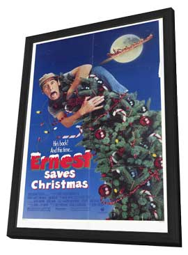 Ernest Saves Christmas - 27 x 40 Movie Poster - Style A - in Deluxe Wood Frame