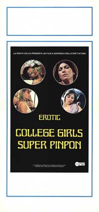 Erotic College Girls Super Pinpon - 13 x 28 Movie Poster - Italian Style A