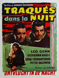 Escape by Night - 11 x 17 Movie Poster - Belgian Style A