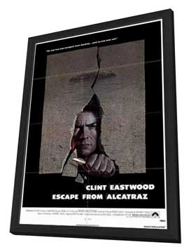 Escape from Alcatraz - 27 x 40 Movie Poster - Style A - in Deluxe Wood Frame
