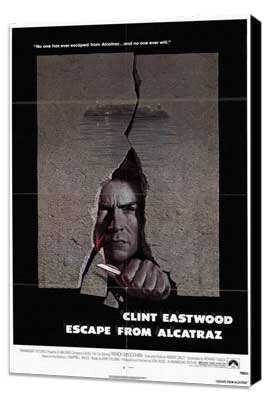 Escape from Alcatraz - 27 x 40 Movie Poster - Style A - Museum Wrapped Canvas