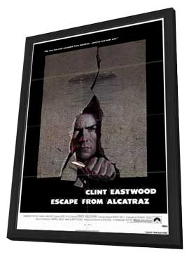 Escape from Alcatraz - 11 x 17 Movie Poster - Style A - in Deluxe Wood Frame