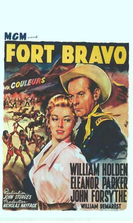 Escape from Fort Bravo - 11 x 17 Movie Poster - Belgian Style A