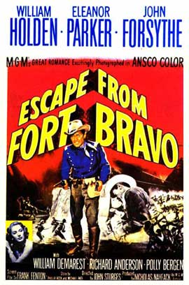 Escape from Fort Bravo - 11 x 17 Movie Poster - Style E