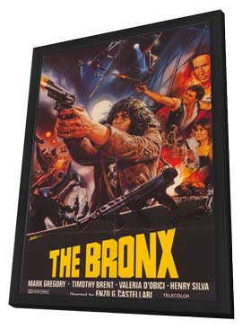 Escape From the Bronx - 27 x 40 Movie Poster - Style A - in Deluxe Wood Frame