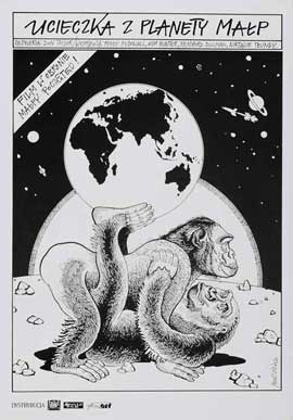 Escape from the Planet of the Apes - 11 x 17 Movie Poster - Polish Style A