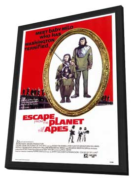 Escape from the Planet of the Apes - 27 x 40 Movie Poster - Style A - in Deluxe Wood Frame