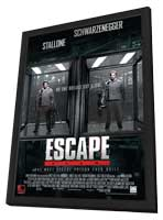 Escape Plan - 27 x 40 Movie Poster - Style C - in Deluxe Wood Frame