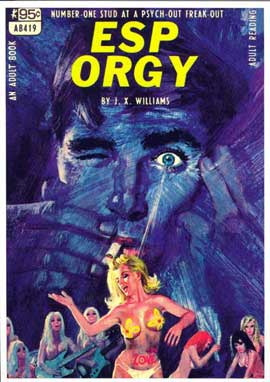 ESP Orgy - 11 x 17 Retro Book Cover Poster