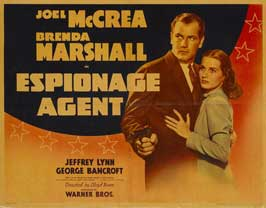 Espionage Agent - 11 x 14 Movie Poster - Style A