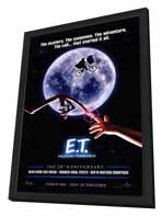 E.T.  The Extra-Terrestrial - 27 x 40 Movie Poster - Style A - in Deluxe Wood Frame