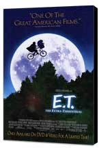 E.T.  The Extra-Terrestrial - 11 x 17 Movie Poster - Style B - Museum Wrapped Canvas