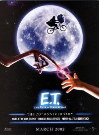 E.T.  The Extra-Terrestrial - 27 x 40 Movie Poster - Style E
