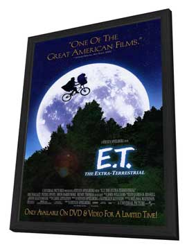 E.T.  The Extra-Terrestrial - 11 x 17 Movie Poster - Style B - in Deluxe Wood Frame