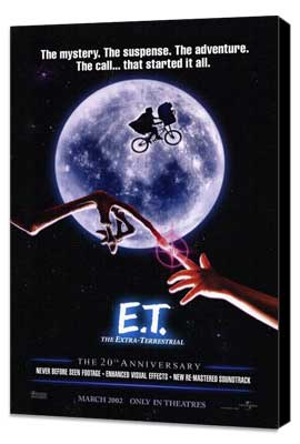 E.T.  The Extra-Terrestrial - 27 x 40 Movie Poster - Style A - Museum Wrapped Canvas