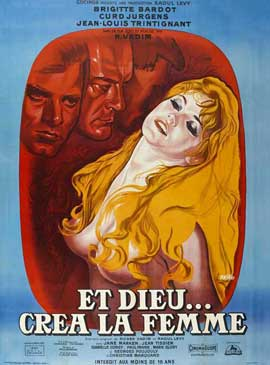 Et Dieu... cr�a la femme - 27 x 40 Movie Poster - French Style A