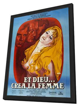 Et Dieu... cr�a la femme - 27 x 40 Movie Poster - French Style A - in Deluxe Wood Frame