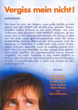Eternal Sunshine of the Spotless Mind - 11 x 14 Poster German Style B