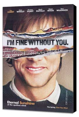 Eternal Sunshine of the Spotless Mind - 27 x 40 Movie Poster - Style B - Museum Wrapped Canvas