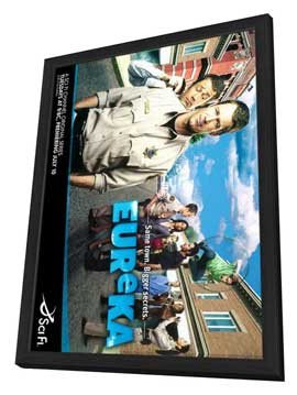 Eureka (TV) - 11 x 17 TV Poster - Style C - in Deluxe Wood Frame