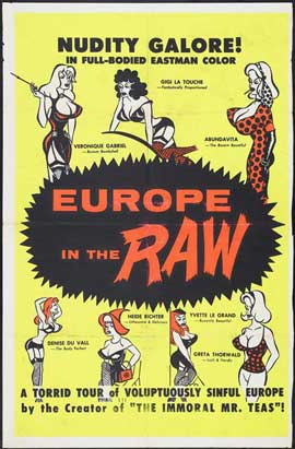 Europe in the Raw - 27 x 40 Movie Poster - Style A