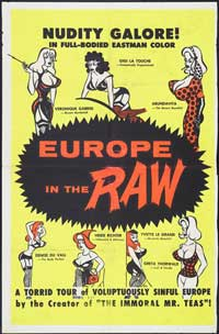 Europe in the Raw - 43 x 62 Movie Poster - Bus Shelter Style A