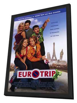 Eurotrip - 27 x 40 Movie Poster - Style A - in Deluxe Wood Frame