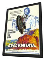 Evel Knievel - 27 x 40 Movie Poster - Style A - in Deluxe Wood Frame
